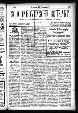 Schoonhovensche Courant 1918-09-10