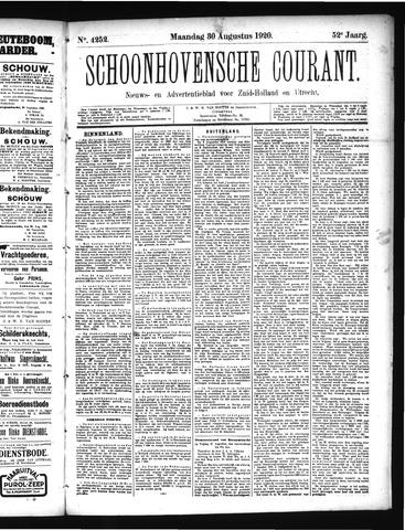 Schoonhovensche Courant 1920-08-30