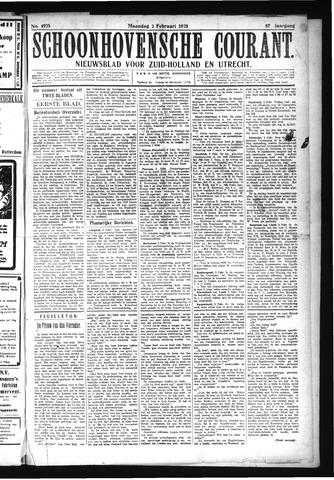 Schoonhovensche Courant 1925-02-02