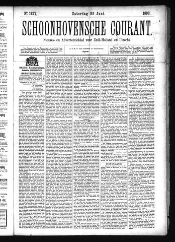 Schoonhovensche Courant 1892-06-25