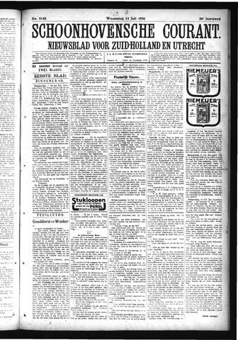 Schoonhovensche Courant 1926-07-14