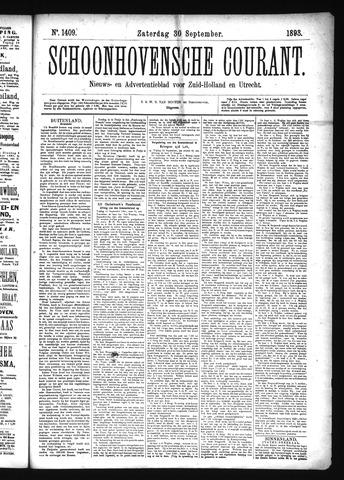 Schoonhovensche Courant 1893-09-30
