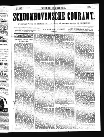 Schoonhovensche Courant 1874-10-25