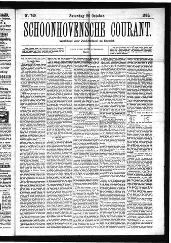 Schoonhovensche Courant 1883-10-20