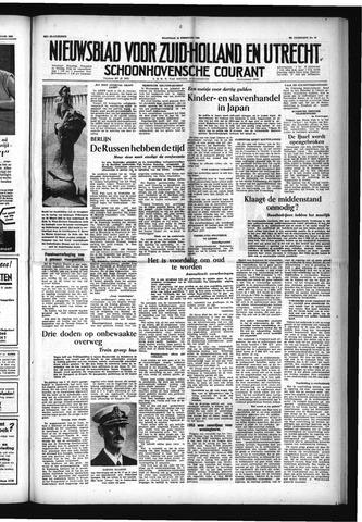Schoonhovensche Courant 1954-02-15