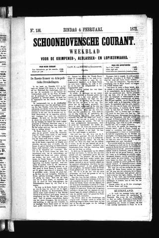 Schoonhovensche Courant 1872-02-04