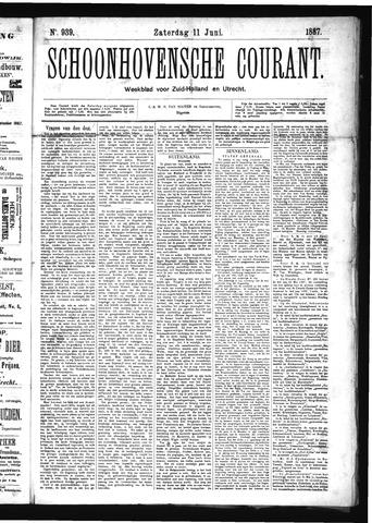 Schoonhovensche Courant 1887-06-11