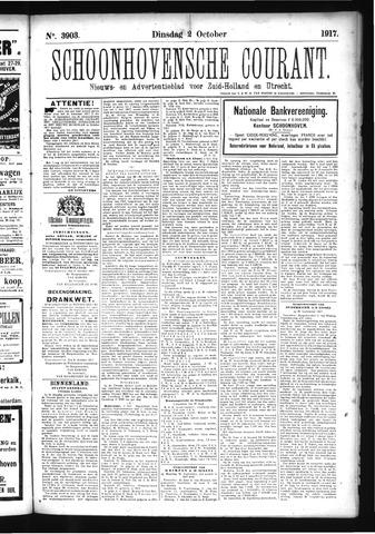 Schoonhovensche Courant 1917-10-02