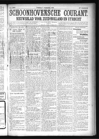 Schoonhovensche Courant 1925-08-07