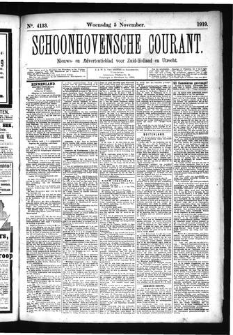 Schoonhovensche Courant 1919-11-05