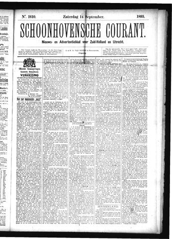 Schoonhovensche Courant 1895-09-14