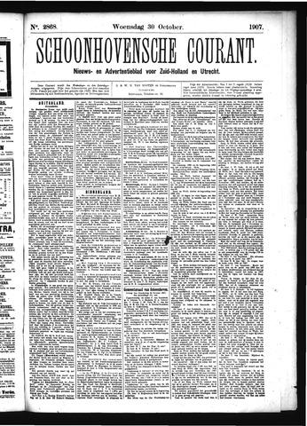 Schoonhovensche Courant 1907-10-30