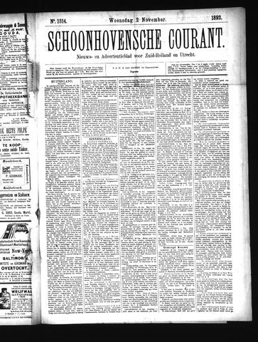 Schoonhovensche Courant 1892-11-02