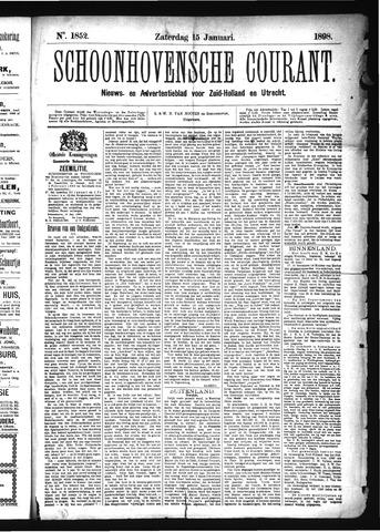 Schoonhovensche Courant 1898-01-15