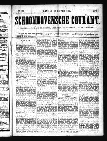 Schoonhovensche Courant 1873-11-23