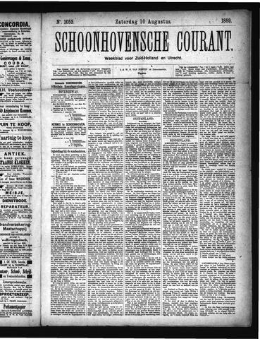 Schoonhovensche Courant 1889-08-10