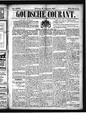 Goudsche Courant 1919-08-12