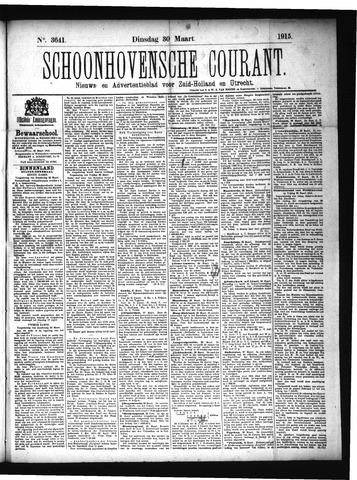 Schoonhovensche Courant 1915-03-30