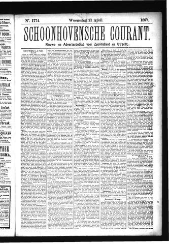 Schoonhovensche Courant 1897-04-21
