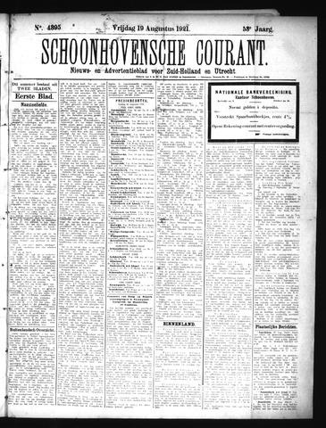 Schoonhovensche Courant 1921-08-19