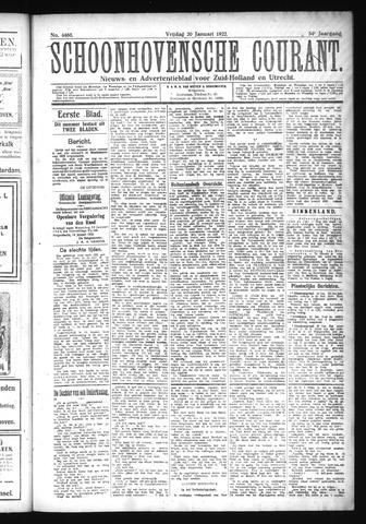 Schoonhovensche Courant 1922-01-20