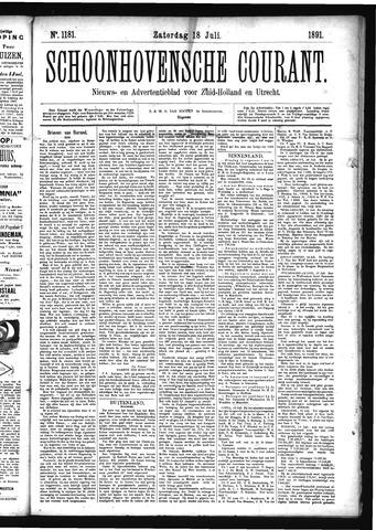 Schoonhovensche Courant 1891-07-18