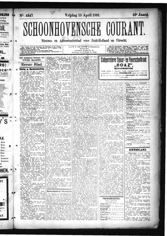 Schoonhovensche Courant 1921-04-15