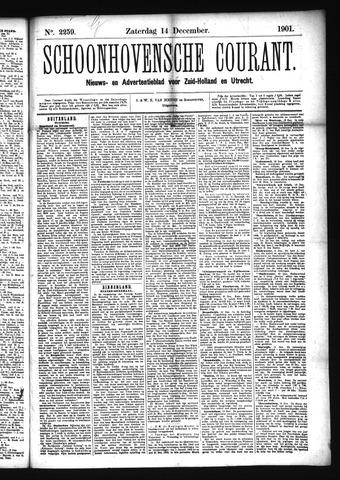 Schoonhovensche Courant 1901-12-14