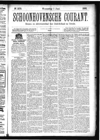 Schoonhovensche Courant 1892-06-01