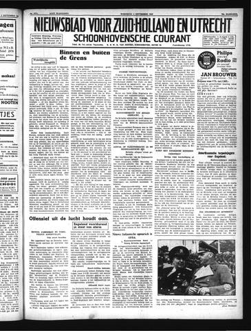 Schoonhovensche Courant 1940-09-04
