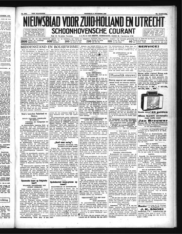 Schoonhovensche Courant 1938-11-09