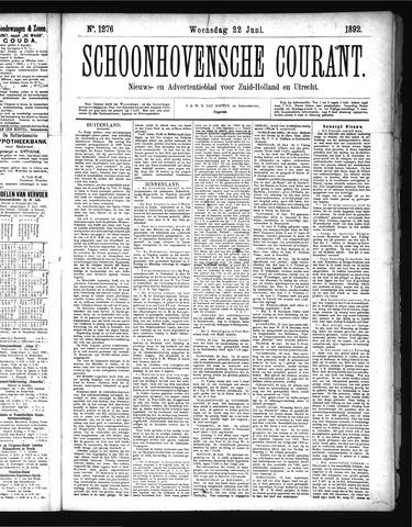 Schoonhovensche Courant 1892-06-22