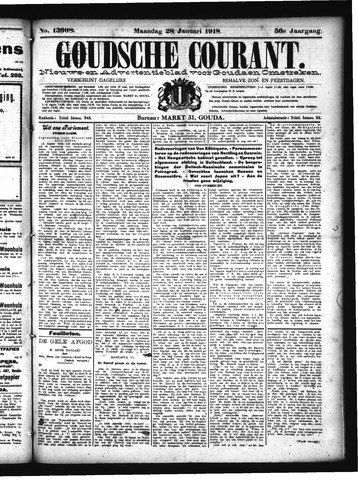 Goudsche Courant 1918-01-28