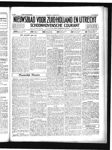 Schoonhovensche Courant 1934-08-01