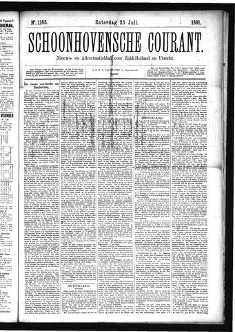 Schoonhovensche Courant 1891-07-25