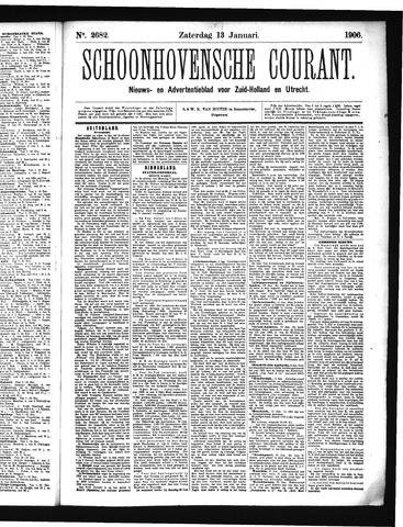 Schoonhovensche Courant 1906-01-13