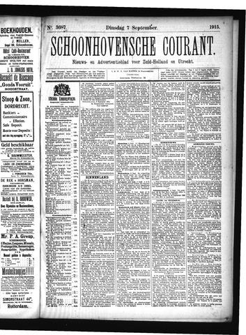 Schoonhovensche Courant 1915-09-07