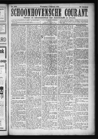Schoonhovensche Courant 1923-02-07