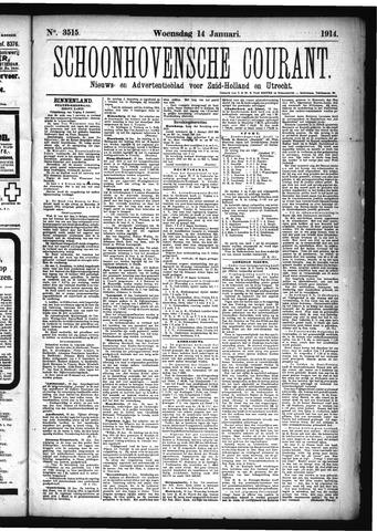 Schoonhovensche Courant 1914-01-14