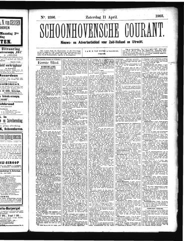 Schoonhovensche Courant 1903-04-11