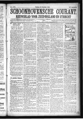 Schoonhovensche Courant 1926-10-29