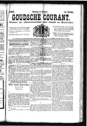 Goudsche Courant 1892-02-15