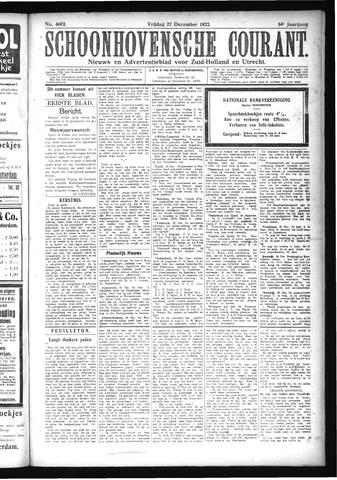 Schoonhovensche Courant 1922-12-22