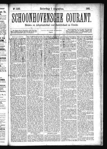 Schoonhovensche Courant 1891-08-01
