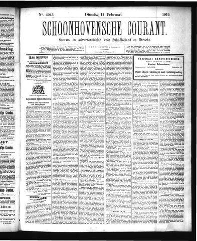 Schoonhovensche Courant 1919-02-11