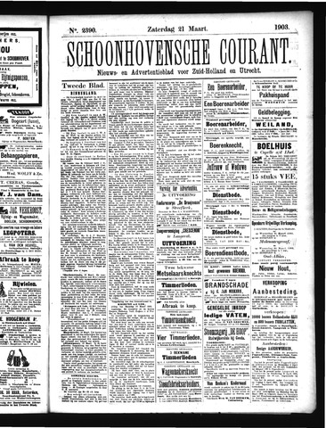 Schoonhovensche Courant 1903-03-21