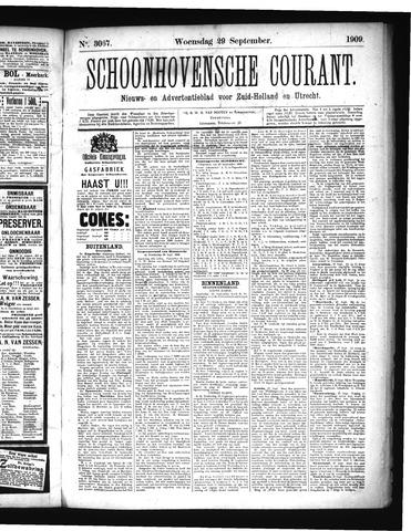 Schoonhovensche Courant 1909-09-29