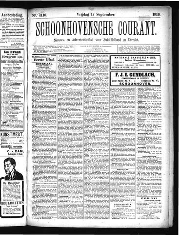 Schoonhovensche Courant 1919-09-12
