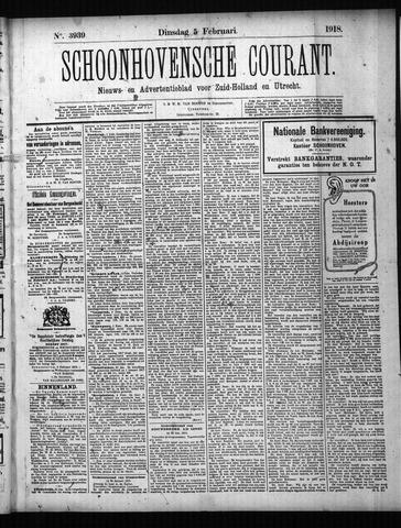 Schoonhovensche Courant 1918-02-05