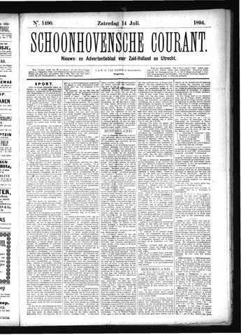 Schoonhovensche Courant 1894-07-14